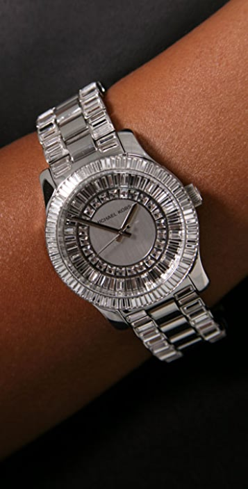 Michael Kors Silver Watch with Crystals