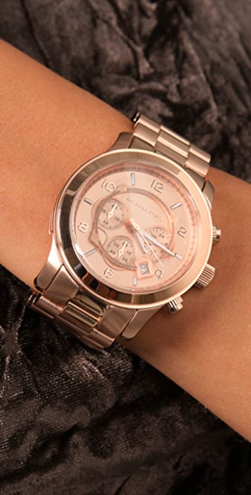 Michael Kors Oversized Rose Gold Watch
