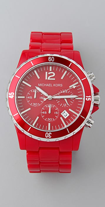 Michael Kors Round Oversized Red Watch