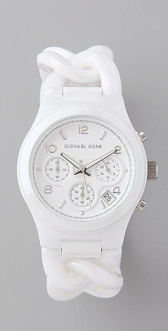 Michael Kors Chronograph Twist Band Watch