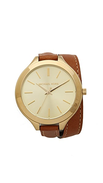 Michael Kors Slim Double Wrap Watch