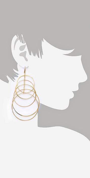 Michael Kors Multi Hoop Orbit Earrings