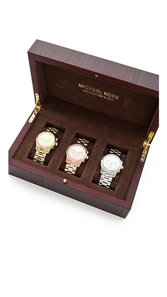 Michael Kors Runway Chronograph Watch Collector Box Set