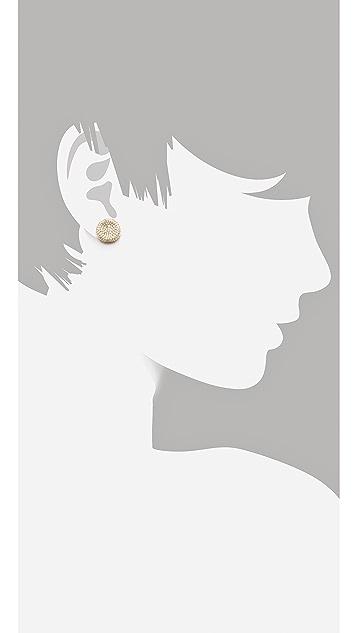 Michael Kors Concave Stud Earrings