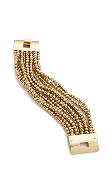 Michael Kors Bead Turn Lock Bracelet