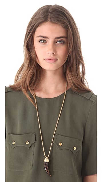 Michael Kors Tortoise Horn Pendant Necklace