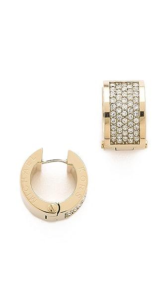 Michael Kors Pave Huggie Earrings