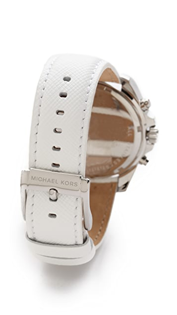 Michael Kors Leather Bradshaw Watch