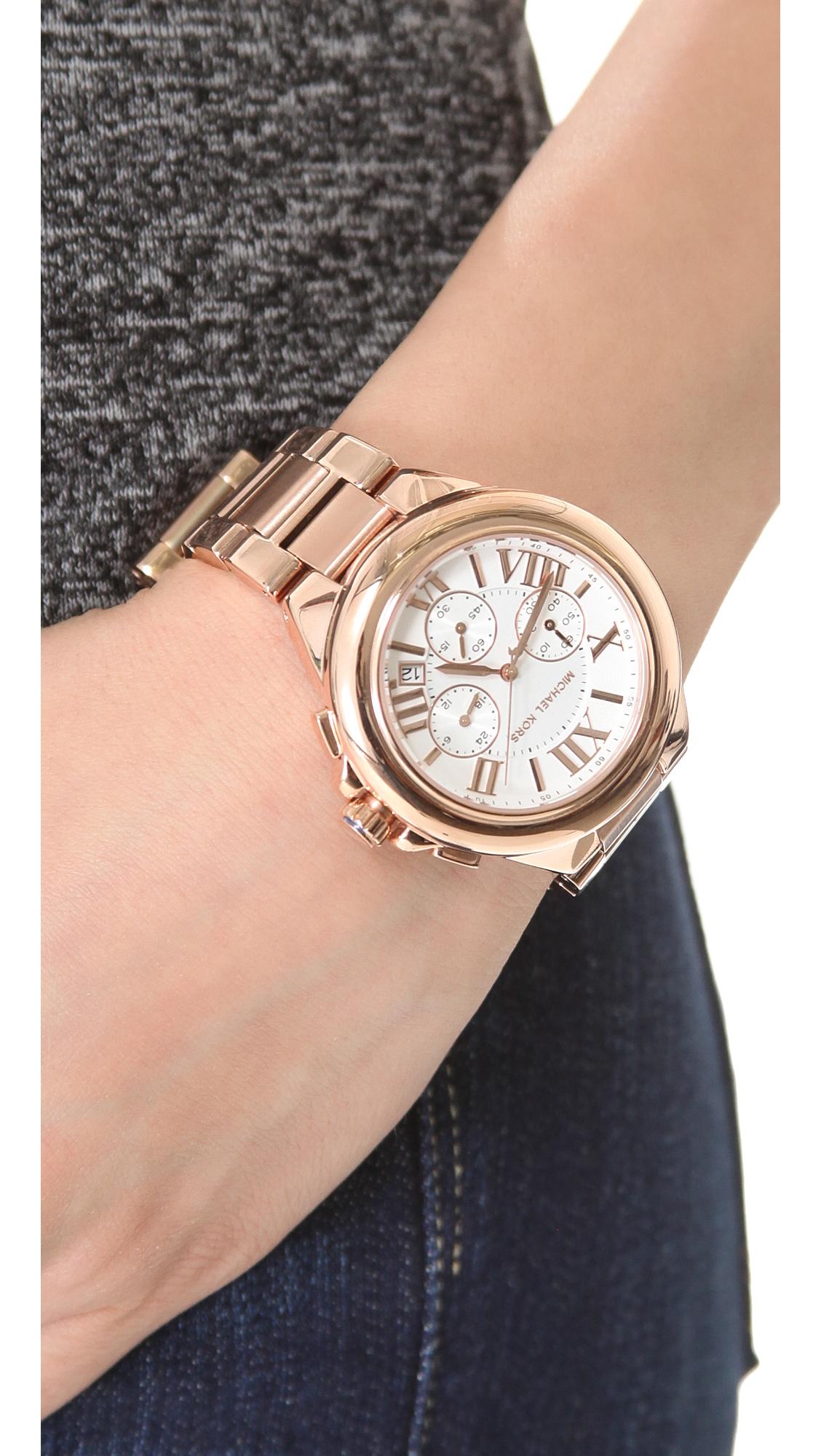 4c9bf8e27589 Michael Kors Camille Chronograph Watch