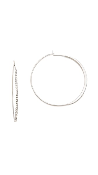 Michael Kors Brilliance Pave Hoop Earrings