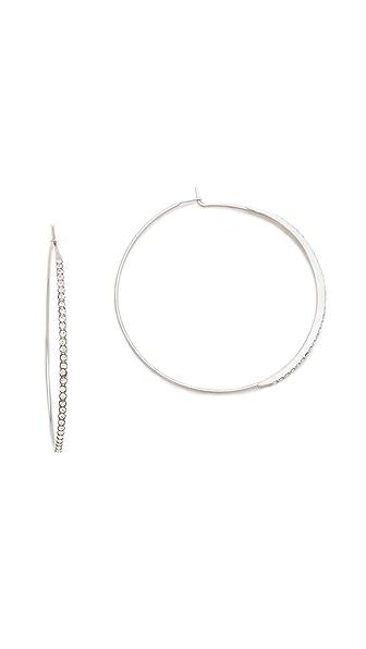 Michael Kors Brilliance Pave Hoop Earrings