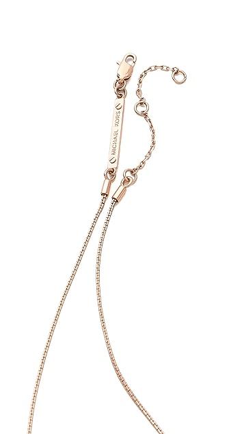 Michael Kors Brilliance Pave Bar Necklace