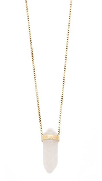 Michael Kors Seaside Luxe Geode Pendant Necklace