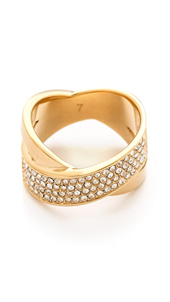 Michael Kors Pave Crisscross Ring