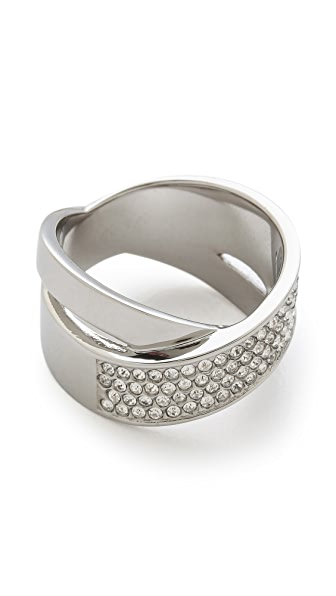 Michael Kors Pave Crisscross Band Ring