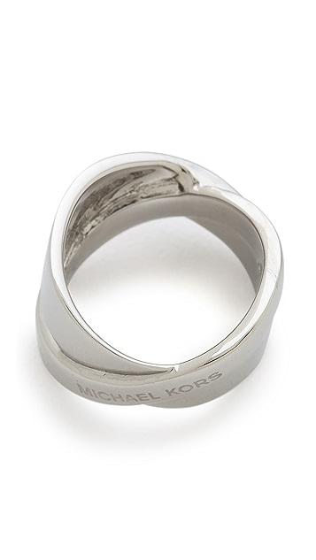 Michael Kors Pave Crisscross Band Ring