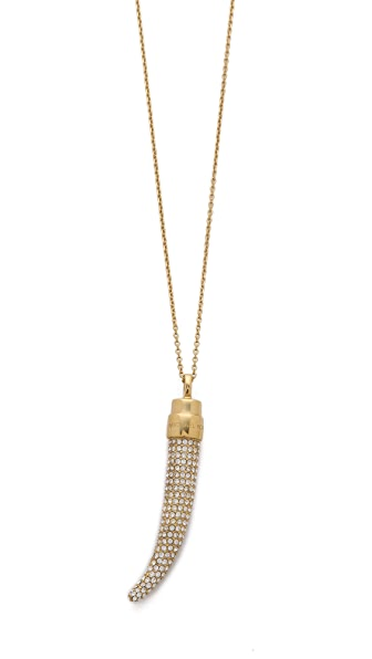 Michael Kors Pave Horn Pendant Necklace
