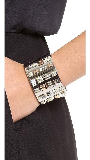 Michael Kors Tri Tone Pyramid Stud Bracelet