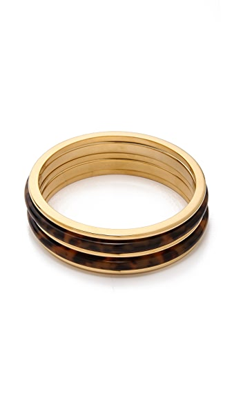 Michael Kors 5 Stack Bangle Bracelets