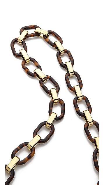 Michael Kors Link Disk Necklace