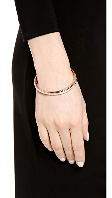 Michael Kors Pave Crisscross Hinge Bracelet