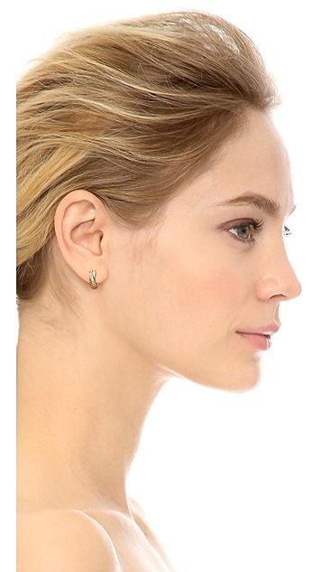 Michael Kors Pave Small Semi Hoop Earrings