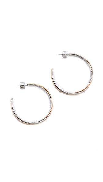 Michael Kors Medium Whisper Hoop Earrings