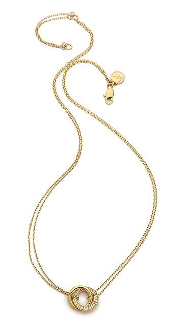 Michael Kors Pave Pendant Rings Necklace