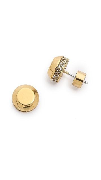 Michael Kors Astor Stud Pave Earrings