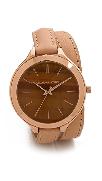 Michael Kors Safari Chic Slim Runway Watch