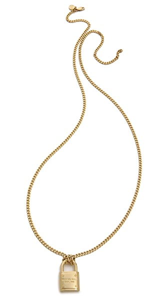 Michael Kors Padlock Charm Necklace