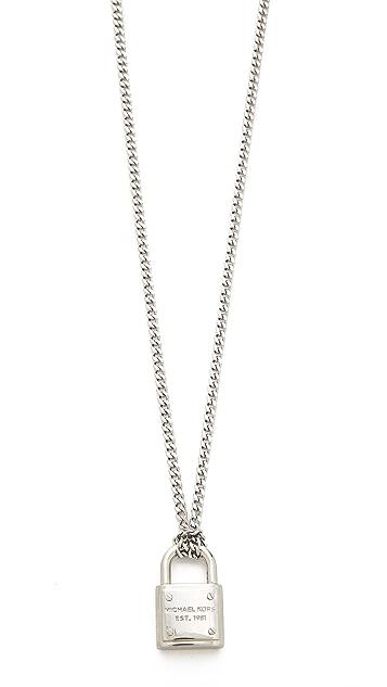 Michael Kors Padlock Charm Necklace