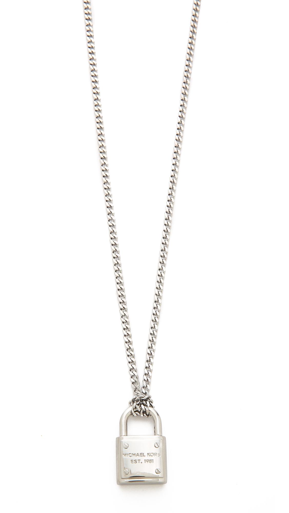 38bb0c5194ed1 Michael Kors Padlock Charm Necklace