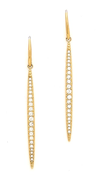 Michael Kors Matchstick Fish Wire Earrings