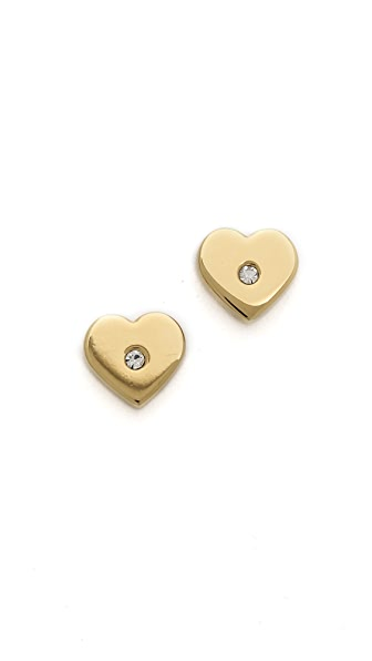 Michael Kors Heart Post Earrings