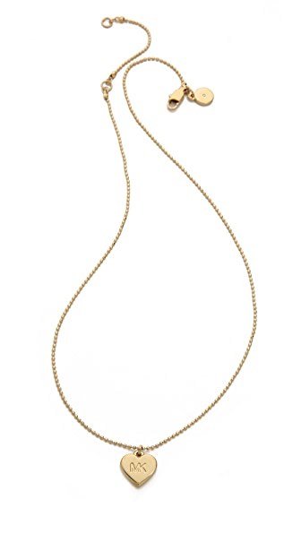 Michael Kors Small Heart Charm Necklace