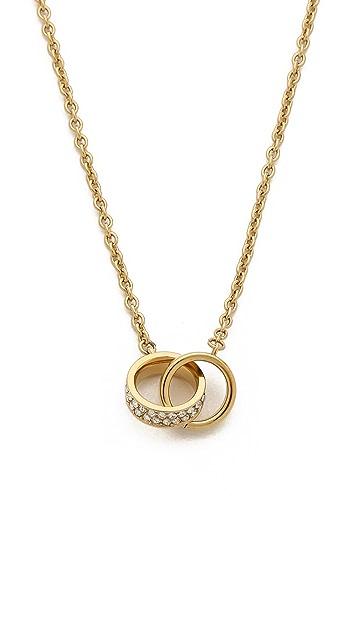 Michael Kors Link Charm Double Chain Necklace