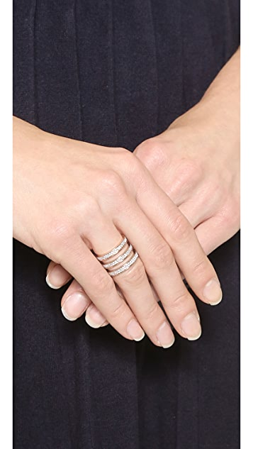 Michael Kors Tri Stack Open Pave Bar Ring