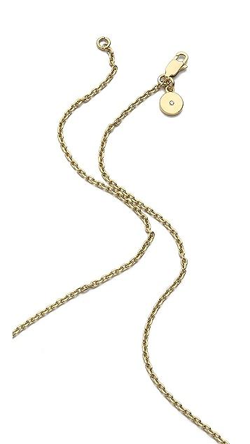 Michael Kors Logo Plaque Pendant Necklace