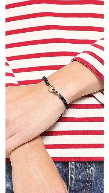 Michael Kors Pave & Baguette Braided Silk Cord Bracelet