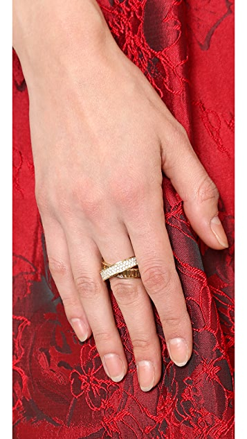 Michael Kors Pave & Baguette Crossover Ring