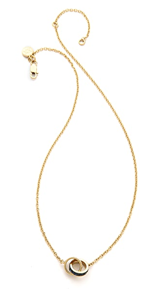 Michael Kors Pave & Baguette Double Chain Necklace