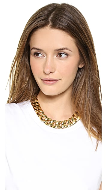 Michael Kors Curb Chain Toggle Necklace