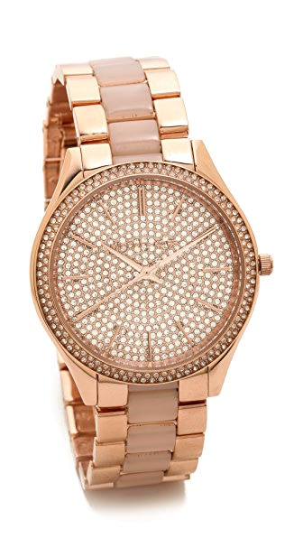 Michael Kors Slim Runway Pave Watch