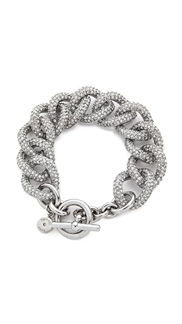 Michael Kors Pave Curb Link Toggle Bracelet