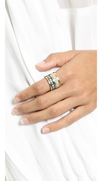 Michael Kors Pave & Baguette Barrel Ring
