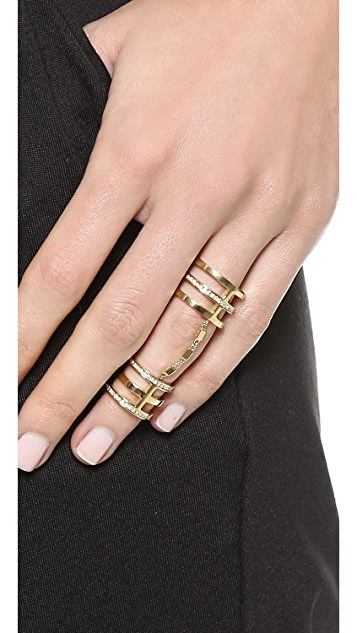 Michael Kors Statement Knuckle Ring with Pave Crystals
