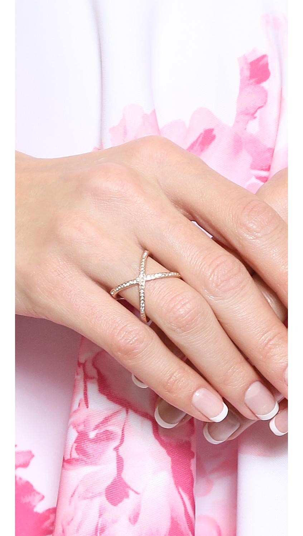 Michael Kors Pave X Ring | SHOPBOP