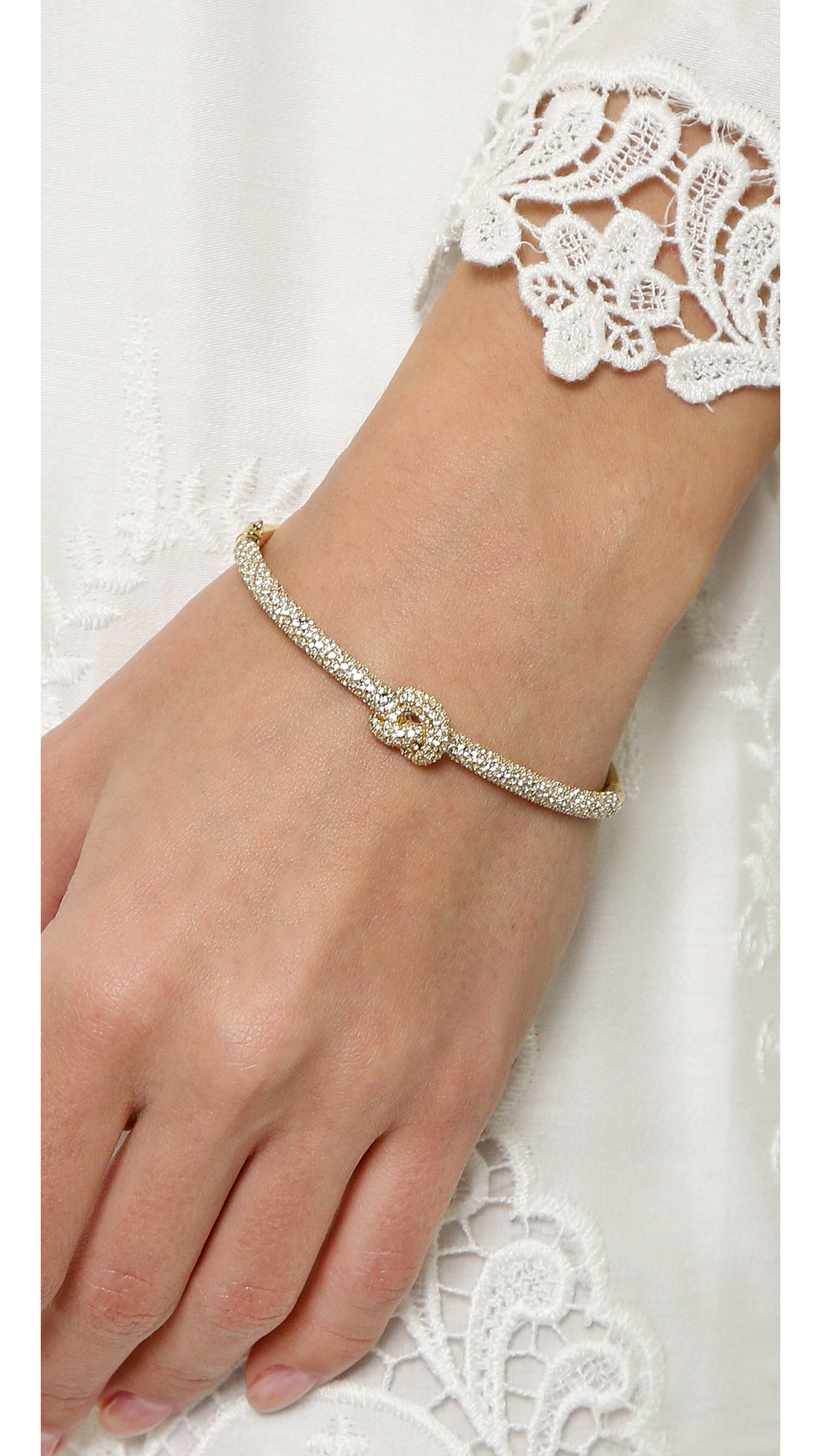 b908bb286542 Michael Kors Pave Knot Hinge Bracelet