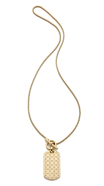 Michael Kors MK Monogram Dog Tag Necklace